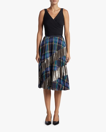 Reyna Pleated Midi Skirt