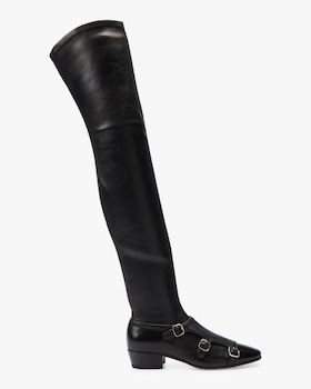 Over The Knee Triple Buckle Boot