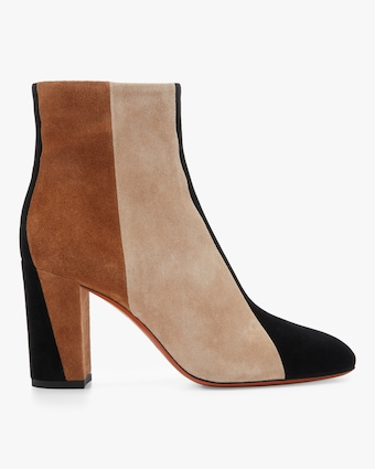 Colorblock Zip Ankle Bootie