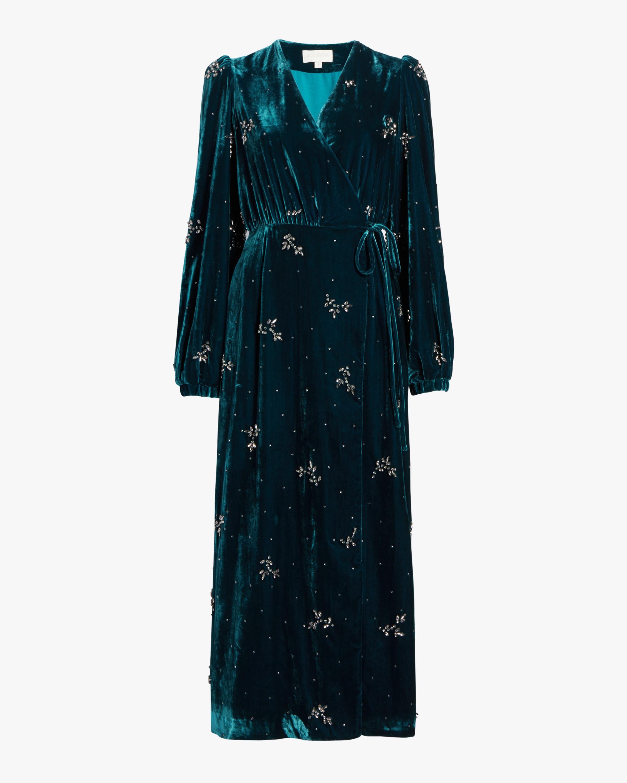 Crystal Velvet Wrap Gown