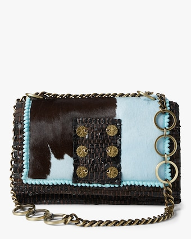 Leather and Tweed Shoulder Bag
