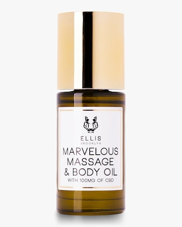 Ellis Brooklyn Marvelous Massage and Body Oil with CBD 30ml 1