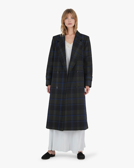 Michelle Waugh The Melanie Double Breasted Wool Coat 1