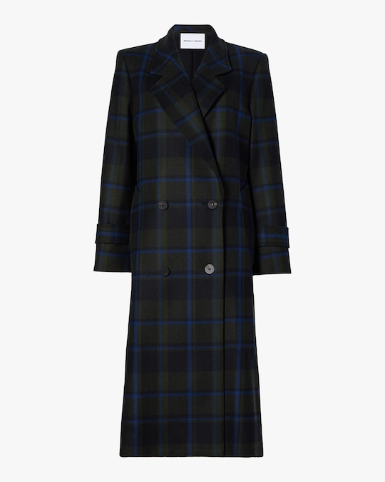 Michelle Waugh The Melanie Double Breasted Wool Coat 0
