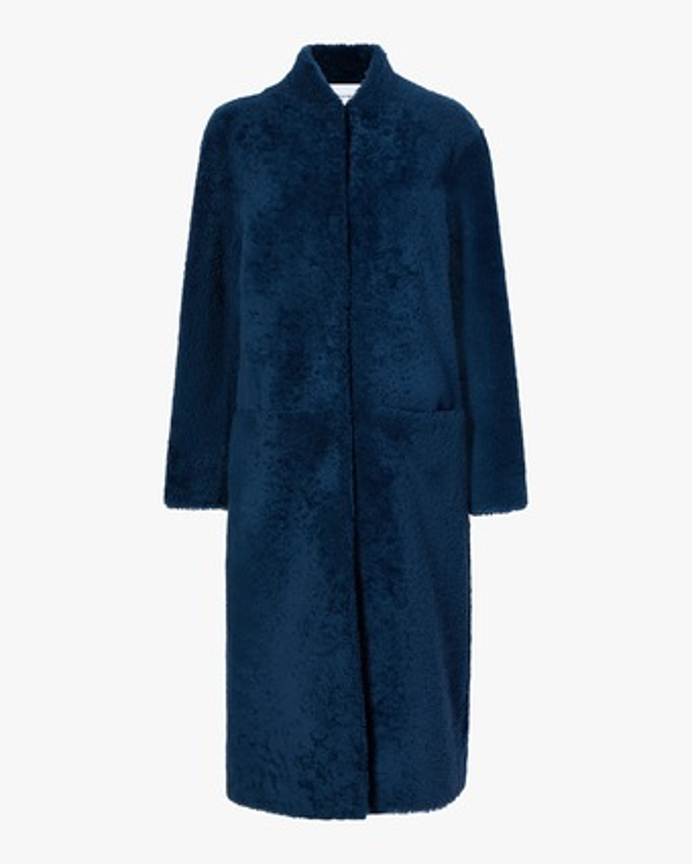 Michelle Waugh The Rhea Long Shearling Coat 1