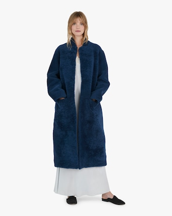 Michelle Waugh The Rhea Long Shearling Coat 2