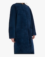 Michelle Waugh The Rhea Long Shearling Coat 3