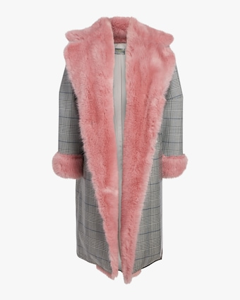 Fur Trimmed Psycho Trend Coat