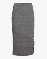 McQ Alexander McQueen Lace-Up Midi Skirt 0