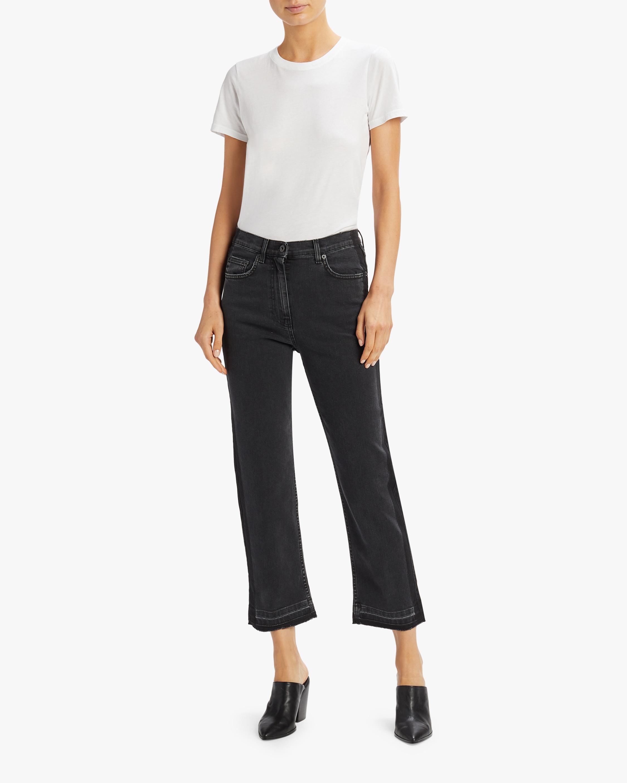 Straight Leg Side Panel Jeans