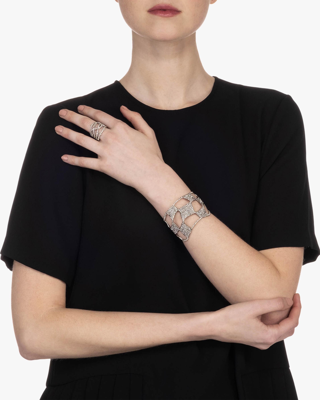 Pavé Checkerboard Cuff Bracelet