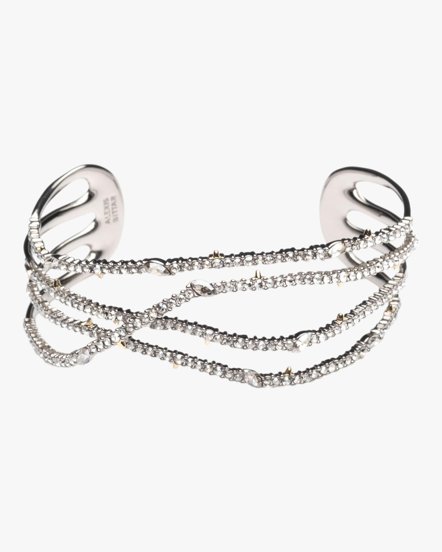 Pavé Orbiting Cuff Bracelet