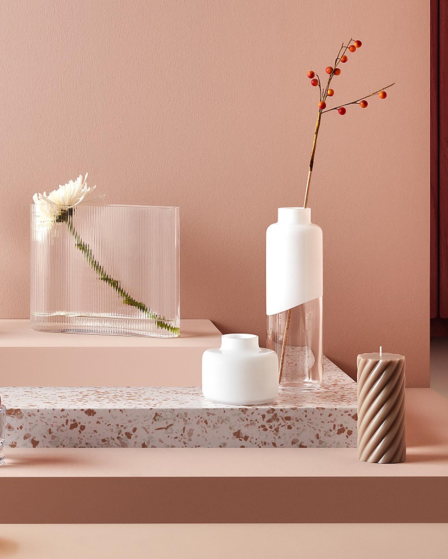 Nude Glass Mist Vase Wide 2