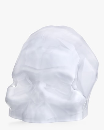 Nude Glass Memento Mori Faceted Skull Large 2