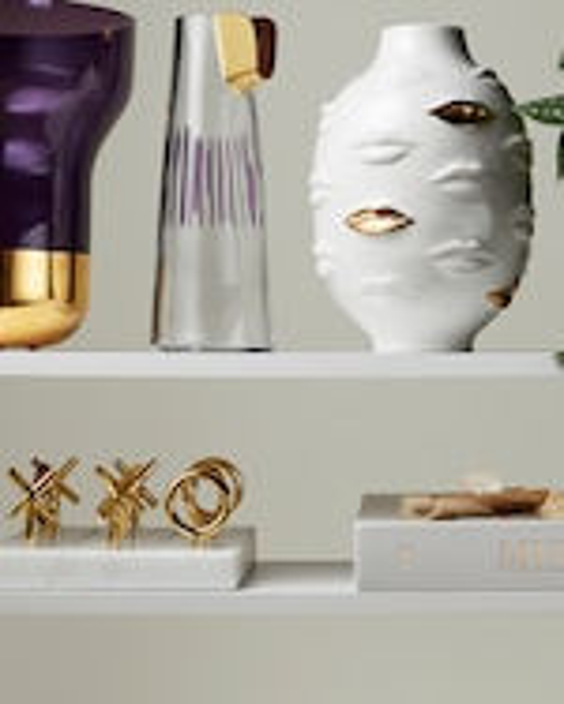 Nude Glass Contour Vase Wide 1