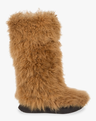 Arctic Luxe Curly Fur Boots