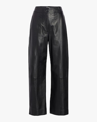 Leather Straight Leg Pant