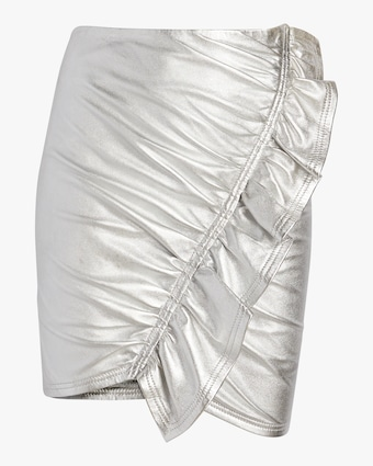Jupiter Metallic Leather Skirt