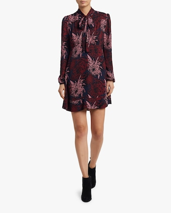 Emery Floral Silk Dress