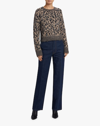 Maris Leopard Print Sweater