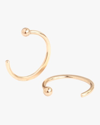 Melissa Joy Manning Classic Huggie Hoop Earrings 2