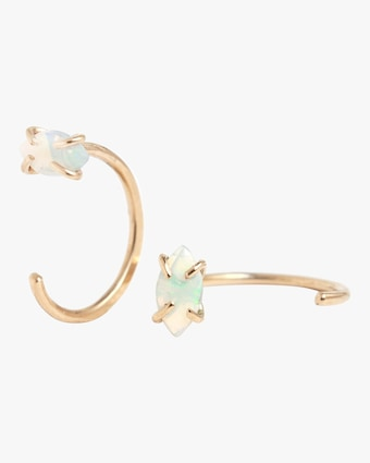 Melissa Joy Manning Crystal Opal Huggie Hoop Earrings 1