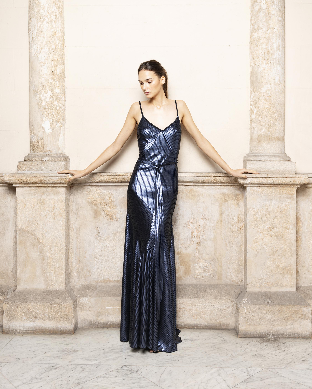 Adriana Iglesias Jill Pailletes Dress 0