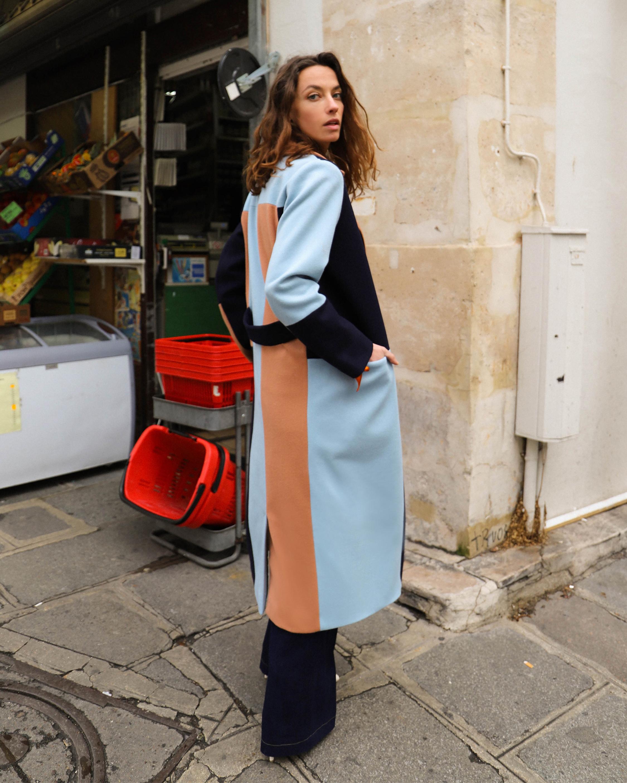 Magda Colorblock Coat