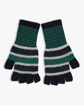 Tuck Stitch Fingerless Gloves