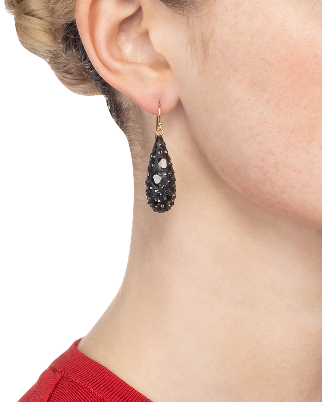 Noir Dust Dew Drop Earrings