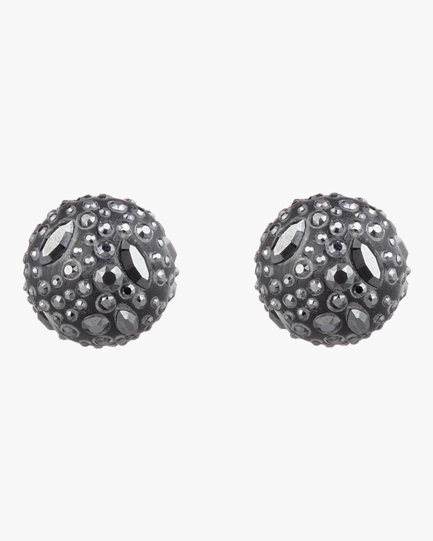 Noir Dust Watery Sphere Clip Earrings