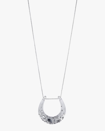 Noir Dust Horseshoe Pendant Necklace