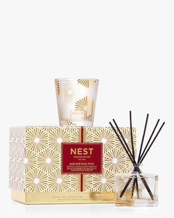 Birchwood Pine Petite Candle & Reed Diffuser Gift Set