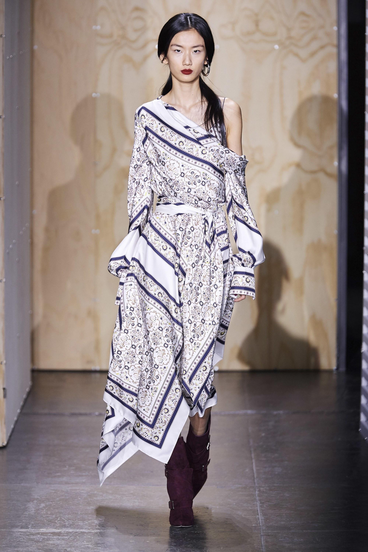 Scarf Print Handkerchief Dress