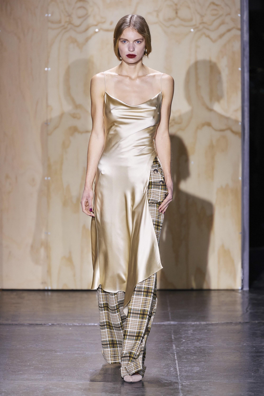 Crepe Back Satin Slip Dress