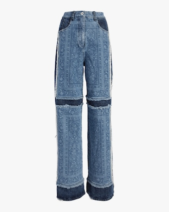 Denim Patch Work Carpenter Pant