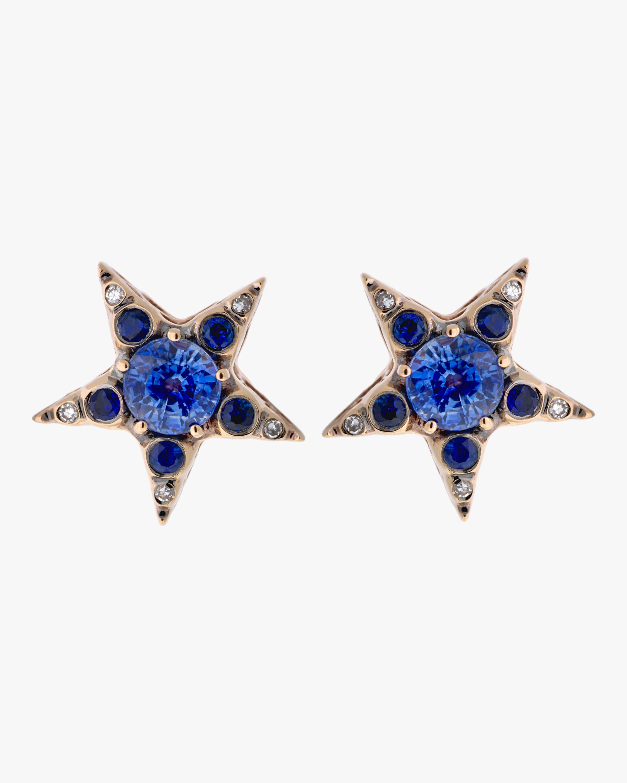 Selim Mouzannar Diamond & Sapphire Earrings 2