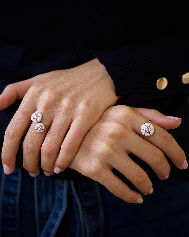 Selim Mouzannar Ivory Enamel & Diamond Ring 2