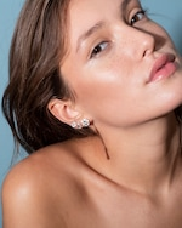Selim Mouzannar Ivory Enamel & Diamond Earrings 1