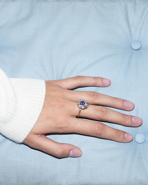 Selim Mouzannar Diamond And Tanzanite Ring 1