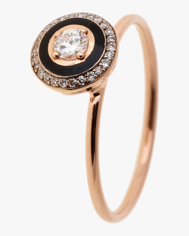 Selim Mouzannar Black Enamel & Diamond Round Ring 1