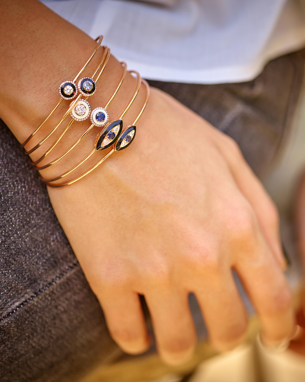 Black Enamel And Diamond Bracelet