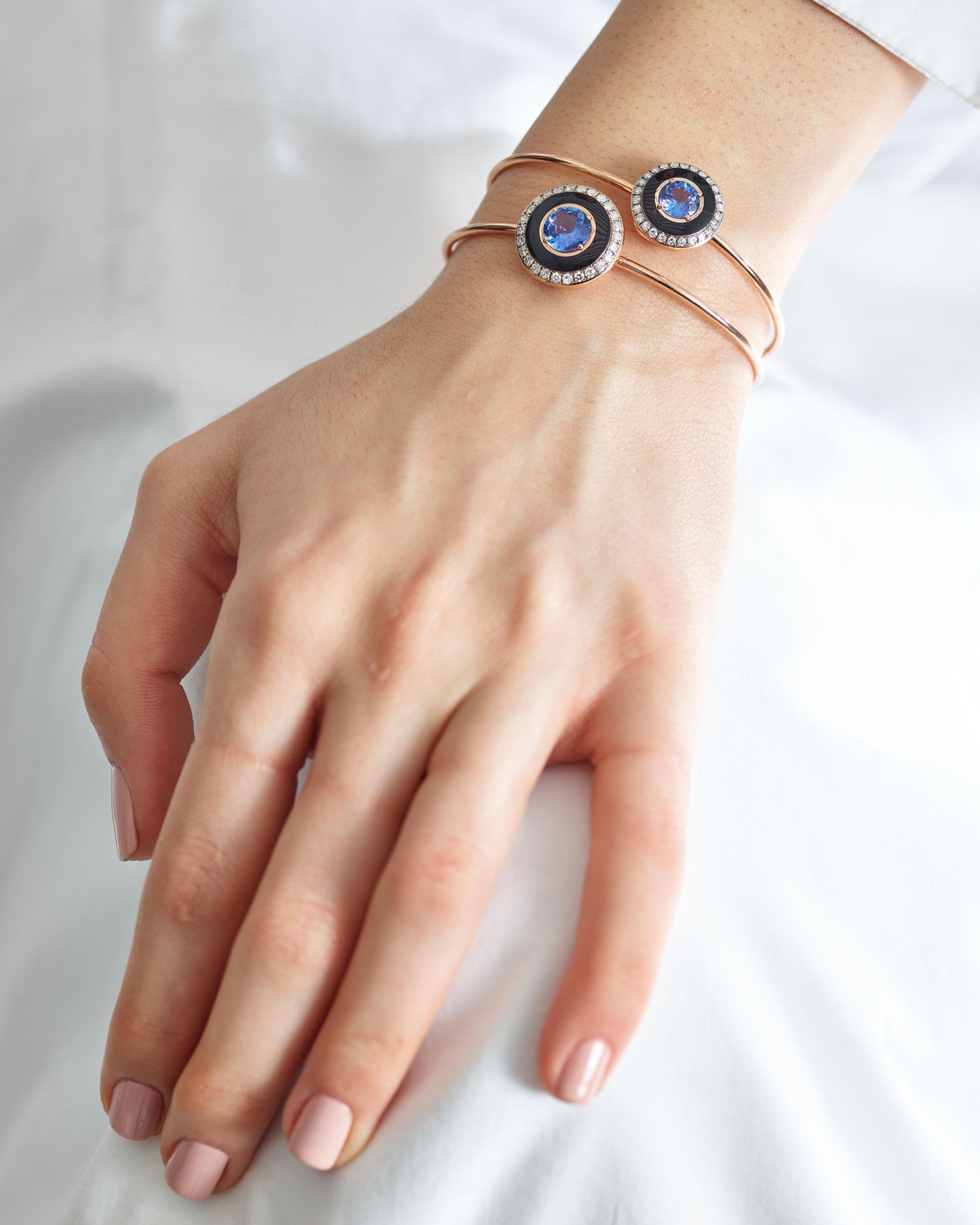 Selim Mouzannar Enamel, Sapphire & Diamond Bracelet 2