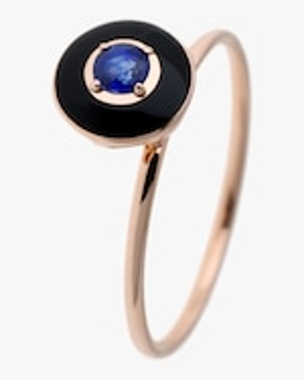 Selim Mouzannar Black Enamel, Sapphire & Diamond Ring 0