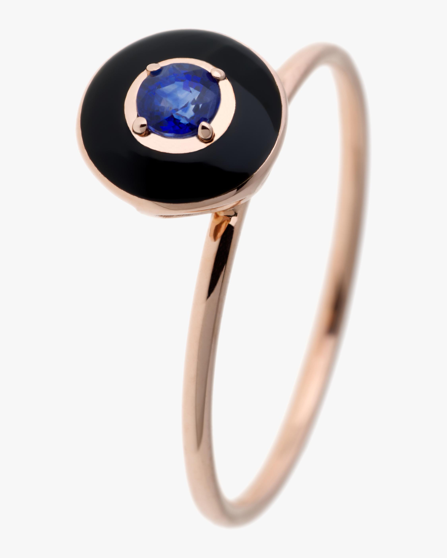 Black Enamel Sapphire And Diamond Ring