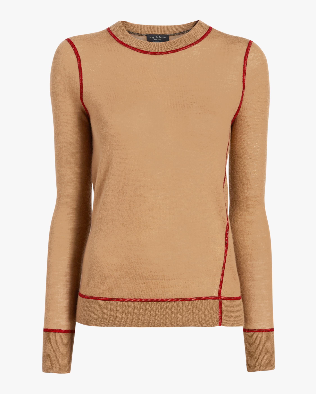 rag & bone Marina Cashmere Crew Neck Sweater 1