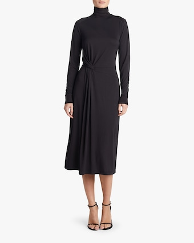 Draped Shaw Midi Dress