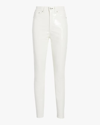 Super High Rise Ankle Skinny Vinyl Pant