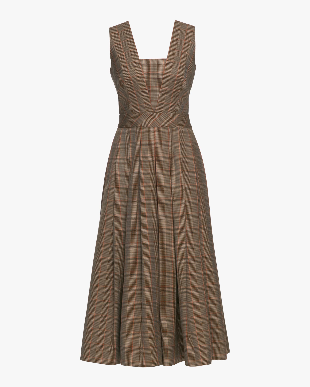 Bootlegger Deep V-Neck Midi Dress