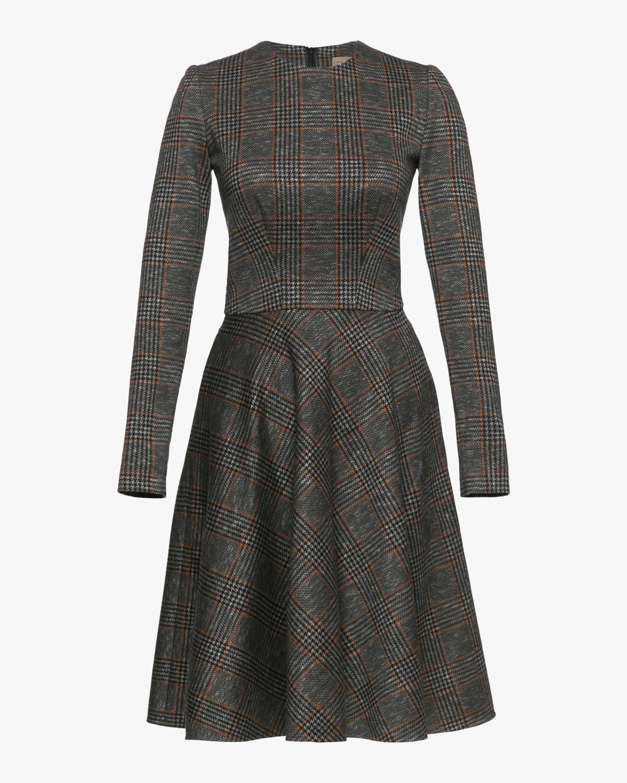 Broker Plaid Jacquard Dress